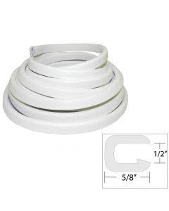 Taco Marine TACO Flexible Vinyl Trim - 1/2 Opening x 5/8W x 25'L - White
