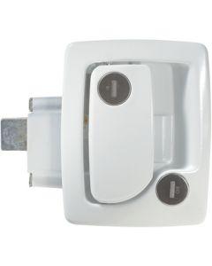 RV Designer Trvl Trlr Lock Wht (60-251Wht) - Trailer Latch With Deadbolt