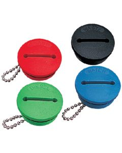 Seadog Slotted Colored Deck Fill Cap Waste Black Line