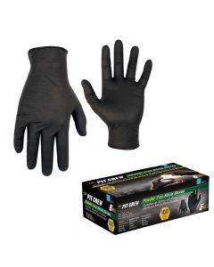 CLC Work Gear CLC Black Nitrile Disposable Gloves - Box of 100 - X-Large