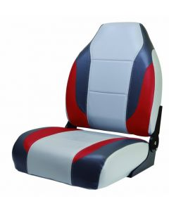 High-Back Fold Down Boat Seats w/ No-Pinch Hinge