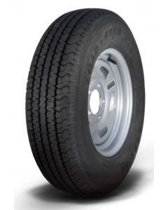 Loadstar Kenda KR03 Radial Tire w/ Directional Steel Wheel, Silver, ST215/75R-14, LRC, 5 on 4.5