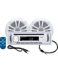 Boss Audio Marine Audio System,  White - Boss MCK648W.6