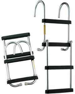 "Garelick Pontoon Ladder, 4-Step, 43"" with Deck Mounting Cups Pontoon & House Boat Ladders"