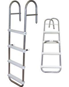 "JIF Marine, LLC Pontoon Boarding Ladder, 4-Step, 39"" - JIF Marine Products"
