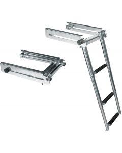 JIF Marine, LLC Telescoping Drop Ladder, 3-Step - JIF Marine Products