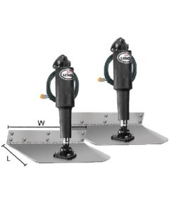 """Lenco 9"""" X 12"""" Standard Mount Trim Tab Kit with Standard Tactile Switch 15104-102"""