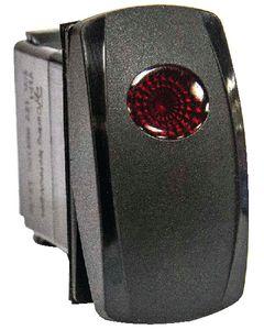 Sierra Illuminated Weather Resistant Contura V Rocker Switch