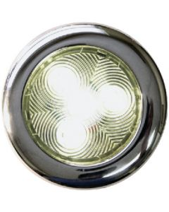 T-H Marine Supply Led Puck Lights, Warm White W/Stainless Bezel, 3""