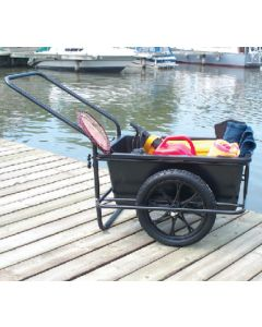 Dock Edge Powder Coated Steel Frame Icart Dock Cart With Removable Poly Bucket