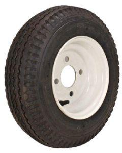 Loadstar Kenda K371 Bias Tire & Wheel Assembly, 480/400-8 LRC, White, 4 hole