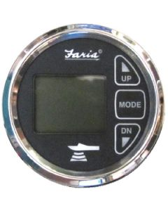 Faria In-Dash Dual Temperature Digital Depth Sounder With Transom Mounted Transducer And Temperature Sender - Chesapeake Ss
