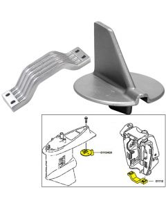 Tecnoseal Anode Kit w/Hardware - Yamaha 150-200HP Left Hand Rotation - Aluminum
