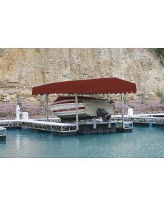 "Rush-Co Marine Hewitt Boat Lift Canopy Cover Deluxe Front for 25' x 120"" Aluminum Frame HW2500120-SLT"