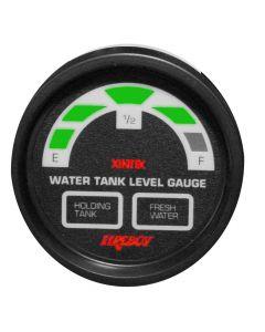 Fireboy Xintex Water/Holding Tank Display Round 2 Gauge f/1 Fresh Water & 1 Holding Tank