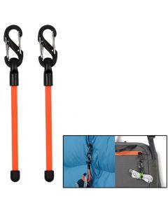 Nite Ize Gear Tie 3 Clippable Twist Tie - Bright Orange 2 Pack