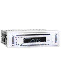 Boss Audio MR648W In-Dash Single-Din Detachable MP3/CD/AM/FM/USB/SD - White