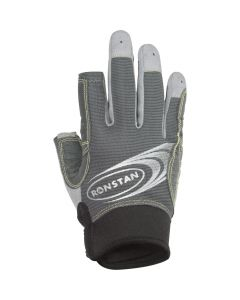 Ronstan Sticky Race Gloves w/3 Full & 2 Cut Fingers - Grey - X-Small