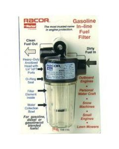 Racor 10 Micron Gasoline In-Line Fuel Filter Element
