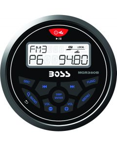 Boss Audio Marine Bluetooth AM/FM Receiver,  Black MGR350B