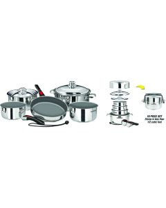 Magma SS Nesting Non-Stick Cookware Set, 10-Piece