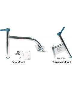 "MarinTech Marine Tech Products Transom Mount Bracket, 2.5"" Setback, Black Powder Coat Shallow Water Anchor"