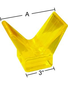 "Smart Boating Bow Stop, 3"", Poly Vinyl, A: 5-1/2"""