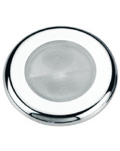 Aqua Signal Bogota White 4-LED Round Stainless Steel Cover Accent Courtesy Boat Utility Light