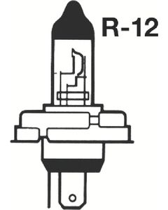 Bell 12V50W R-ANGLE BULB POL H/L