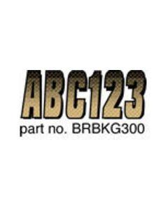 Hardline Boat Registration Decals Series 300 Kit, Carbon Fiber, 328-Brbkg300, Beige & Black