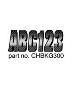 Hardline Boat Registration Decals Series 300 Kit, Carbon Fiber, 328-Chbkg300, Chrome & Black