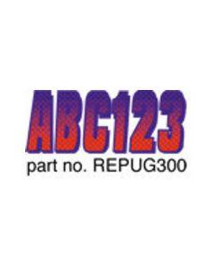 Hardline Boat Registration Decals Series 300 Kit, Carbon Fiber, 328-Repug300, Red & Purple