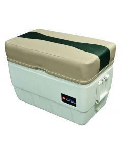 Wise Talon 48 qt. Igloo Cooler Seat/ Ottoman, Mocha Java-Rock Salt-Evergreen