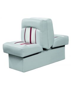 Wise Pinnacle Series Back-to-Back Lounge, Med. Grey/ Lt. Grey/ Red