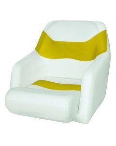 Wise Bolster Bucket Seat, Cuddy Brite White-Zander Yellow 8WD1205-1741