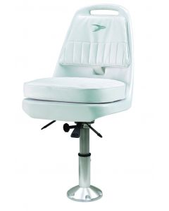 """Wise Pilot Chair with Mainstay 2 3/8"""" Pedestal, White"""