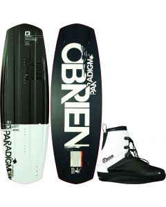 O'Brien Paradigm 139 Wakeboard with White/Black Nomad Bindings, Size 8-10