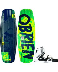 O'Brien Contra 133 Wakeboard with Connect Bindings, Size 8-11