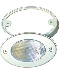 T-H Marine Supply White Oval Boat Courtesy Light With Mount Boat Utility Light