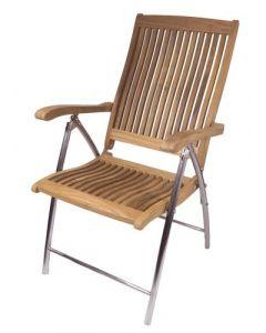 SurfStow Windrift Folding 6-Position Deck Armchair w/SS legs