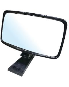 "Seachoice Universal 4 x 8"" Rear View Boat Mirror; Deck & Windshield/Frame Mount (up to 1"")"