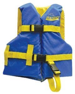 Seachoice Life Vest, Child, 20 -25 , Blue/Yellow
