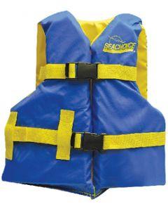 Seachoice Life Vest, Youth, 25 -29 , Blue/Yellow