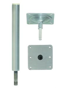 """Attwood Lock'n-Pin 3/4 Pedestal Package With 11"""" Post And 7x7 Base - Swivl-Eze"""