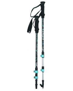 Yukon Charlie's Advanced Hiking Poles, Aqua / Gray