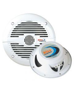 "Boss Audio Flush Mount Speakers MR60 6.5"" Round White Marine Speakers - Boss"