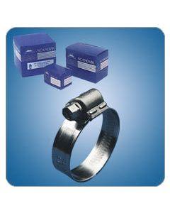 Scandvik Aba 316 Stainless Steel Clamp, #6, 10 Pack