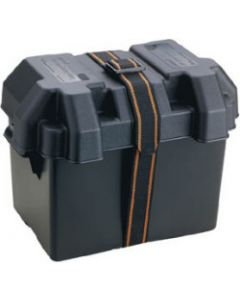 Attwood Standard Boat Battery Box, Black