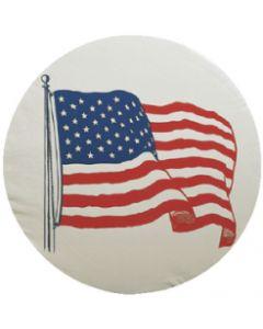 Bell US FLAG TIRE CVR A 34 WHITE