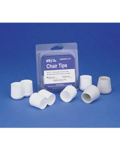 Garelick Deck Chair White Poly Replacement Tips, 4 Pack
